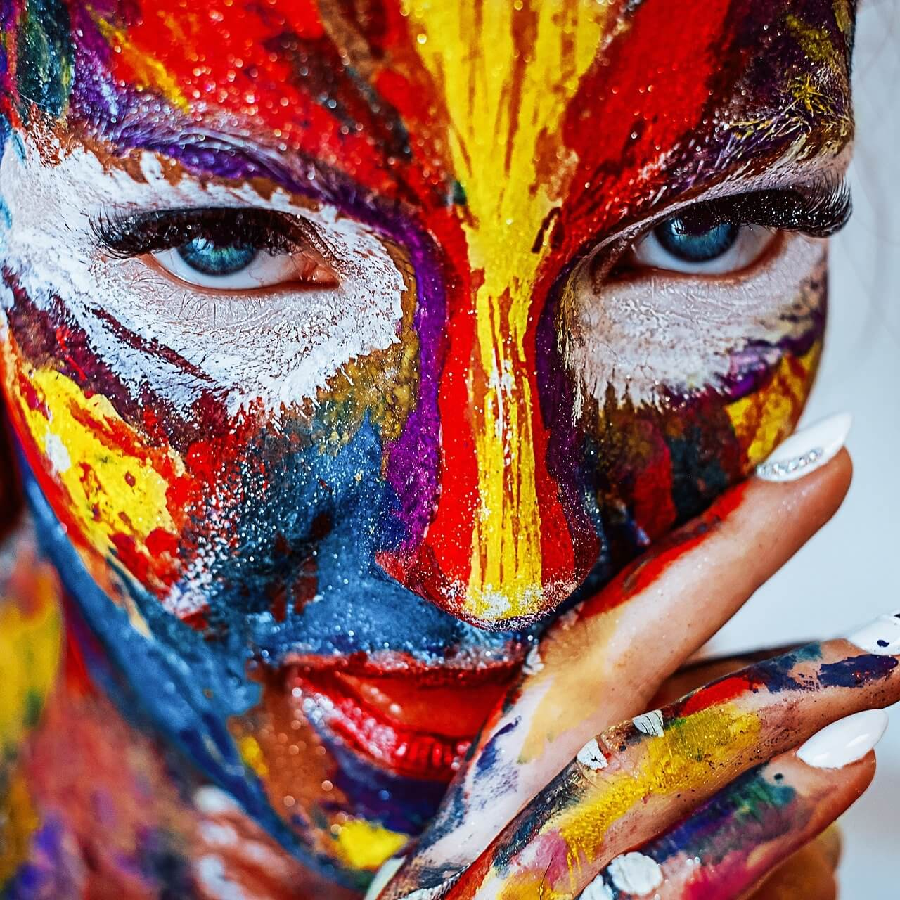 Colored face